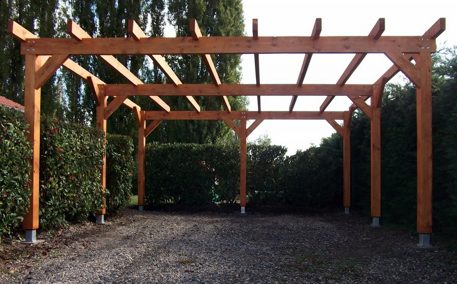 plan charpente carport. Black Bedroom Furniture Sets. Home Design Ideas