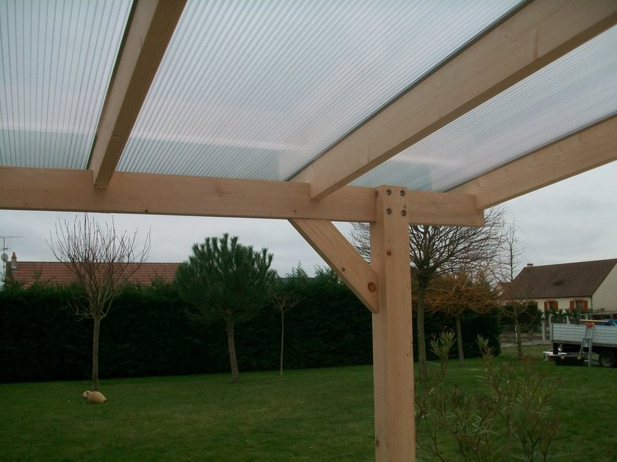 Toiture carport polycarbonate