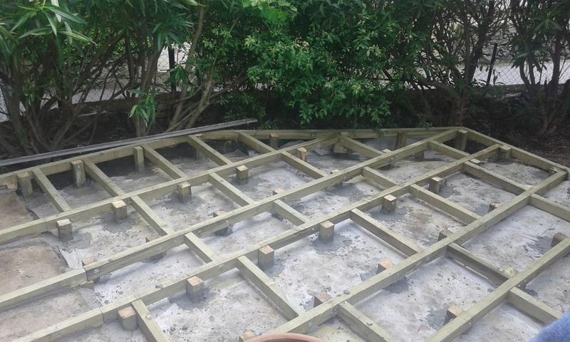 Terrasse bois surface 20 m2
